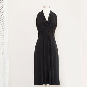Evan Picone Black Ruched Waist Dress 6